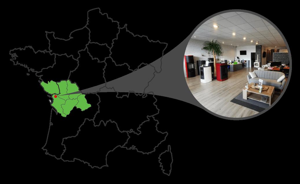 Showroom PilPoele Poitou Charentes Vendée situé à Ferrières (17)